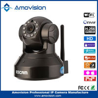 New design H.264 CMOS 720P night vision Escam Pearl QF100 security camera system wireless