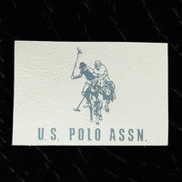 polo leather jacket label/patch