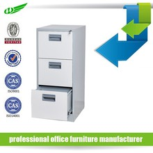 3 drawers under table office mini metal filing cabinet