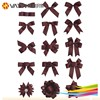 Wholesale high quality pre made mini satin ribbon bow