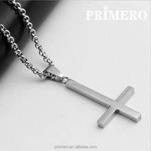 PRIMERO Inverted Cross Peter titanium steel 316L Stainless Steel Pendant Necklace Lucifer Satan fashion vintage punk jewelry