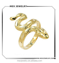 Animal Jewelry 925 Sterling Silver Gold Tone Infinity Band Lucky Snake Ring