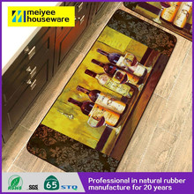 2015 Best selling cheap Polyester Printed Door Kitchen Floor Mat manufacturer