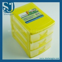 Trade assurance ECO-friendly cheap 3 tier desktop mini stackable plastic storage drawers