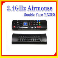 Hot Sell Dual Side MX3FS Six Axis 2.4G Mini Wireless Mouse and Keyboard for Android TV Box Remote Control