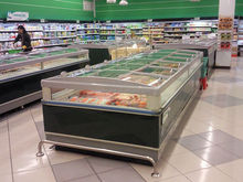 China manufacturer small commercial refrigerator and ice cream freezer with lights