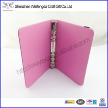High Quality Customized Handmade Ring Binder Leather Book Cover
