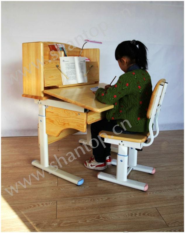 Nouveau design en bois table de travail r glable en hauteur tables d 39 enfants id du produit - Table de travail reglable en hauteur ...