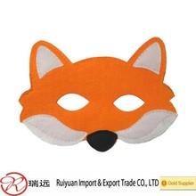 Halloween party decorative cheap material felt fox mask for teenagers