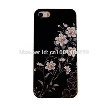 Phone Cases MOBILE CASES 3D relief process For iPhone 5 5S Flower