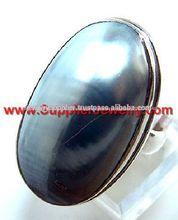 925 anillos de plata con piedras semipreciosas