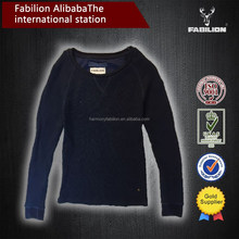 Spring or autumn hot selling dark bluespecial v-neck fashion couple pullover sweater