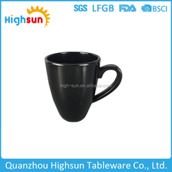 2015 high grade office use black color melamine bulk coffee mugs