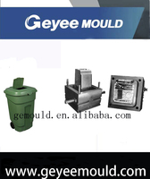 plastic inject outdoor dustbin mould design in huangyan