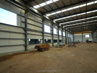 large space prefabricated steel structure warehouse with