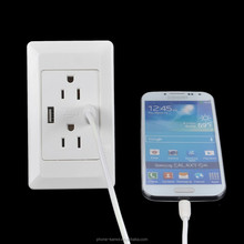 Canada and American style usb plug socket UL and ETL certified 5V 3A output for iphone and ipad
