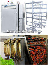 Electric heating fish sausage Smokehouse oven with trolley
