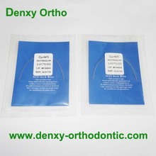 Orthodontic upper and lower heat treated niti archwire copper niti wires