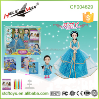 Topic Small/Large Princess Dolls, Cute Lovely Articulated Plastic Toy Doll with Barbiee Frame