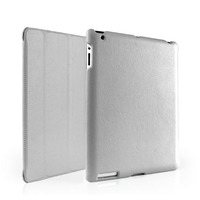 In Stock! Slim-Fit Folio Smart Case Cover with Back Case for Apple the New iPad 4 3 2 With Retina Display