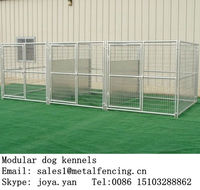 Factory supplying 3 runs dog cages steel folding dog kennels temporary pet mesh panels large indoor dog fences