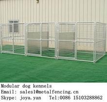 Factory supplying 3 runs dog cages steel folding dog kennels temporary pet mesh panels large indoor dog fences