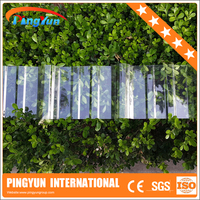 UV coated polycarbonate corrugated roof sheet/top quality pc skylight roofing sheet