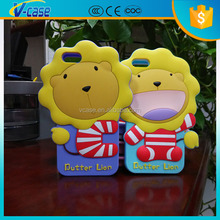 Korea silicone cute cartoon hot sales mobile phone accessories case for iphone 6