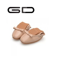 Latest design genuine leather women loafer shoes