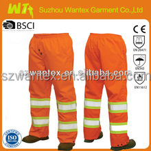 high quality mens navy cargo work trouser with high visibility