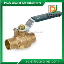 Brass Ball Valve with Drain Inline Lever Handle Solder End