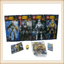 4 shape mixed big star war building blocks toy