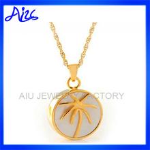 custom design zircon plant pendant jewelry