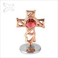 finest requintado em ouro rosa chapeado de metal mini cross