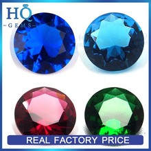 Wholesale Round Faceted Blue Sapphire Precious Glass Stone