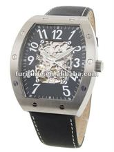 automatic watch fashion brand watch golden skeleton automatic watches stianless steel wristwatch