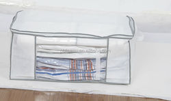 canvas bag with vacuum bag inside for space saving and storage