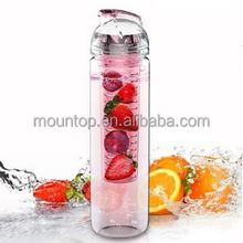 25oz tritan new foldable shaker water bottle private label fruit infuser bottle