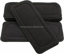 Ohbabyka antibacterial charcoal fiber diapers inserts, washable cloth diaper insert organic