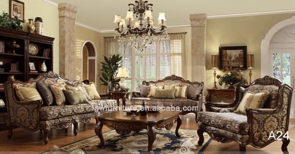Wholesale Living Room Luxury Dubai Leather Sofa Furniture A24
