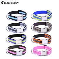"Durable Nylon Pet Dog Collar Bulk With Double Ribbon 1"" Multiple Color & Size"