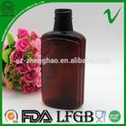 Pet âmbar líquido médico garrafa de plástico para embalagem de líquidos