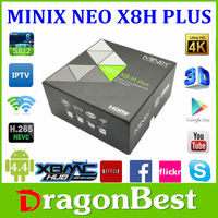 Best Minix neo x8-h plus support H.265 Amlogic S812 Quad-Core Android 4.4.2 Google TV box 2G/16G 4Kx2K with free A2 lite