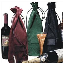 string velvet wine bag