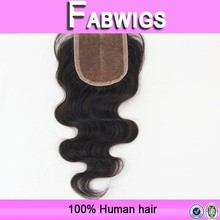 Fabwigs 8a top grade wholesale 3.5*4 middle part body wave 100% human brazilian hair lace closure,remy virgin hair