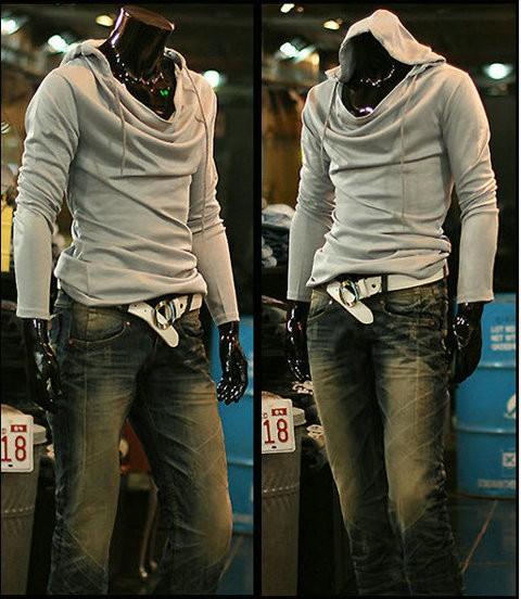 auntmn простой черный / многоцветные тонкой балахон бренд качества чистого цвета толстовка для мужчин xy201