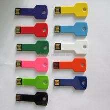 new arrivel free logo colorful mini metal key shape usb sticks