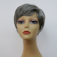 2015 New Products Fashionable Style 100% Unprocessed Remy Grey Human Hair Short Bob Wigs