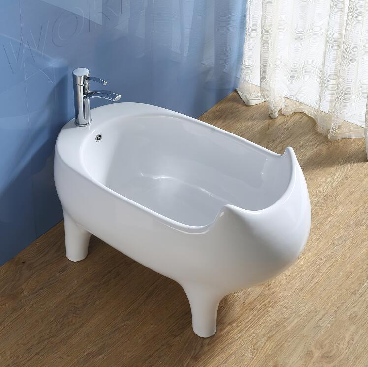 Ceeport Bathroom Egg Shaped Shallow Bathtubs Ceramic Baby Bath Tub ...