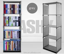 5 layer bookcases new design folding book shelf